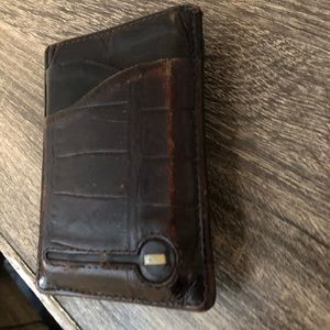 Cole Haan Distressed Leather Wallet + Money Clip